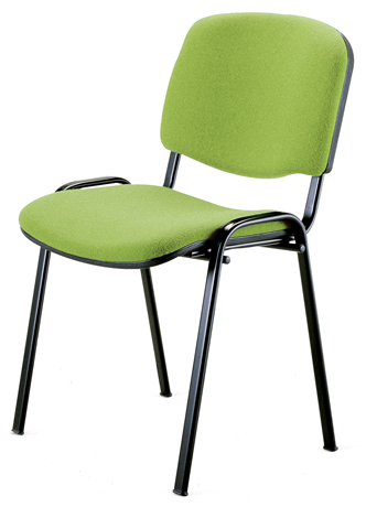 Chaise FLIPPER - assise et dossier en tissu