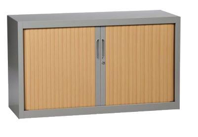 DPC - INFORMATIQUE & BUREAUX Armoire crédence a rideaux unis & décors standards 1 étagère
