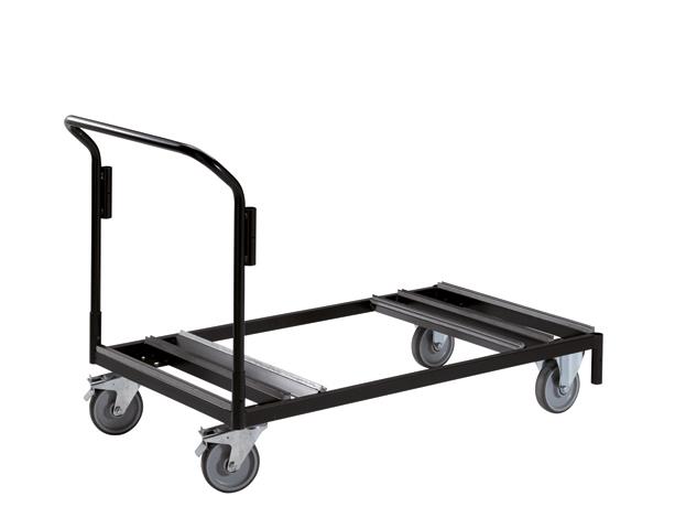 Chariot de transport de tables pliantes pour stockage à plat