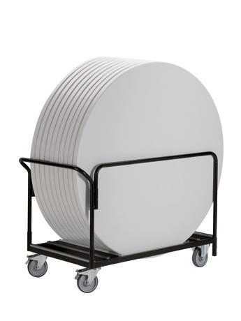Chariot de transport de tables pliantes pour stockage sur chant