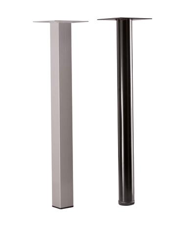 Pied métallique tube sur vérin pour gamme SYNODYS ou AMALGA (avec visserie)