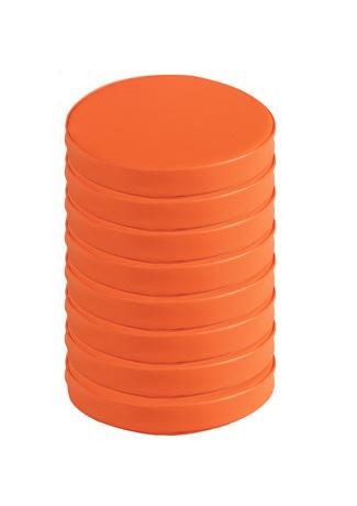Lot de 8 galettes orange PONCHO avec velcro pour vestiaire droit