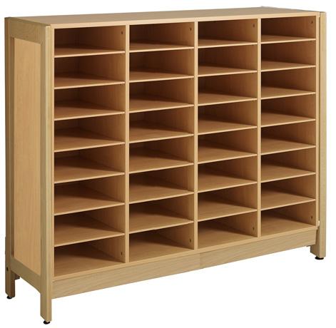 Meuble 32 cases - piétement bois