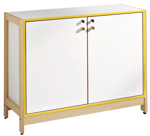 DPC - MATERNELLE Meuble bas 2 portes battantes - piétement bois