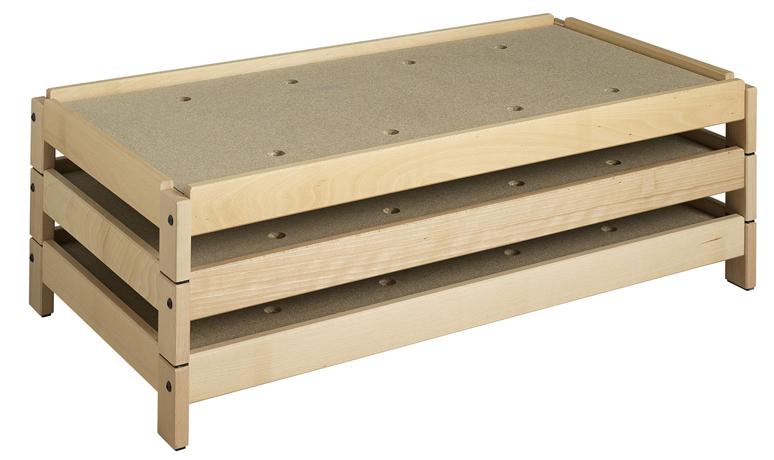 Couchette bois empilable - ossature en hêtre massif  - sommier en aggloméré perforé