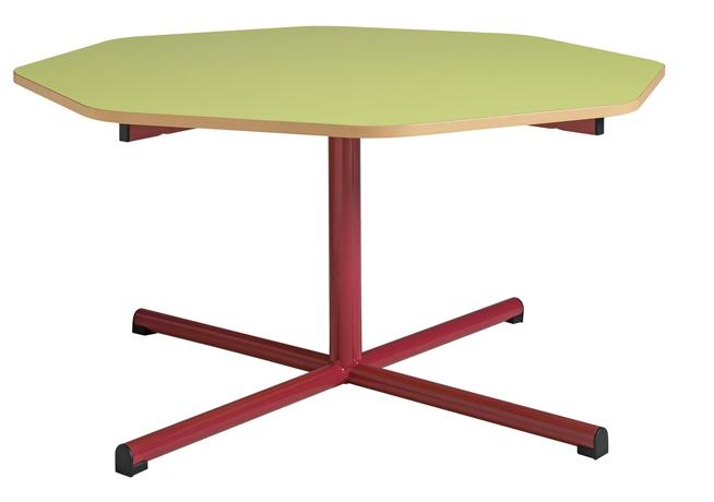 Table maternelle fixe - piétement central - diamètre 1200 mm