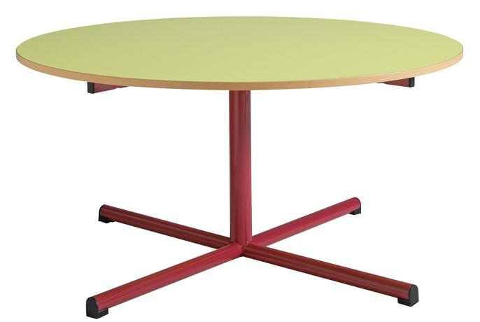 DPC - MATERNELLE Table maternelle fixe - piétement central - diamètre 1200 mm Photo 2