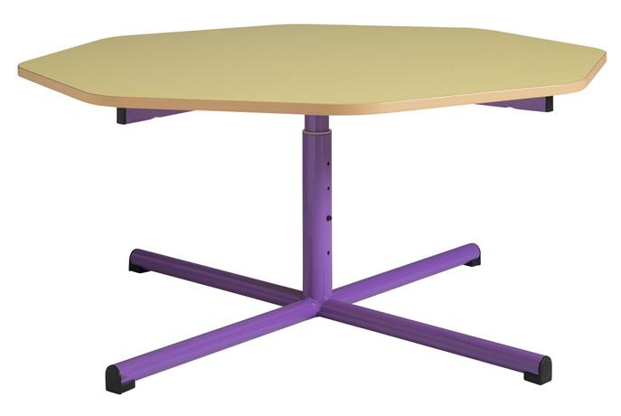 Table maternelle réglable - piétement central - diamètre 1200 mm