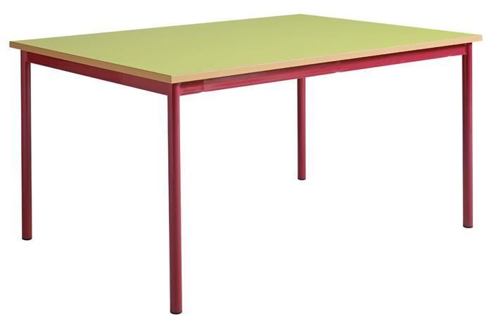 Table maternelle fixe 4 pieds avec bac à jouets