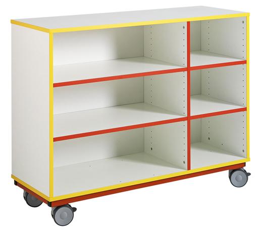 dpc maternelle meuble ouvert sur roulettes 1 s paration d cal e 4 tablettes r glables. Black Bedroom Furniture Sets. Home Design Ideas