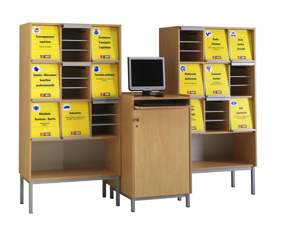DPC - SCOLAIRE & SALLE DE COURS Présentoir à périodiques ONISEP - 9 cases sur socle avec niche Photo 2