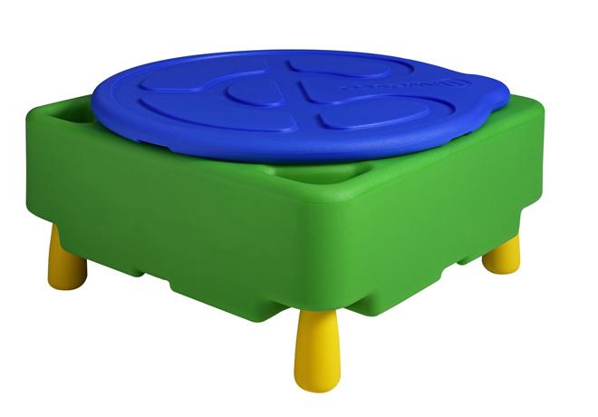Dpc maternelle bac eau ou sable avec pieds et couvercle - Bac a sable sur pied ...