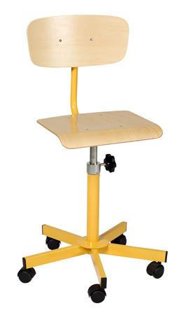 Chaise info réglable par vis de 420mm à 600mm sur roulettes