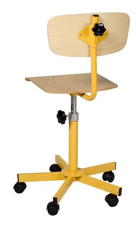 DPC - INFORMATIQUE & BUREAUX Chaise info réglable par vis de 420mm à 600mm sur roulettes Photo 2