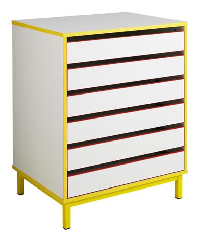 dpc maternelle meuble dessins avec tiroirs pi tement lat ral m tallique. Black Bedroom Furniture Sets. Home Design Ideas