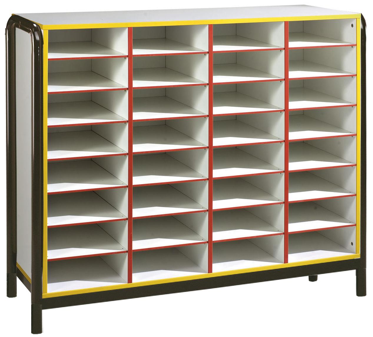 Meuble 32 cases - piétement latéral métal