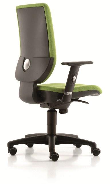 DPC - INFORMATIQUE & BUREAUX Chaise de travail TERTIO dossier tissus avec accoudoirs (mécanismes Synchrone) Photo