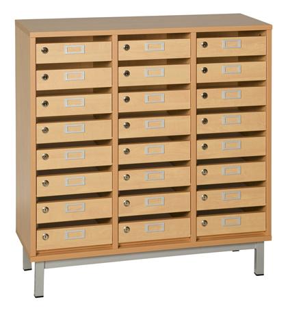 Dpc scolaire salle de cours meuble courrier avec cases for Meuble 12 cases