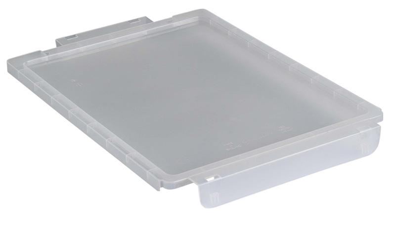 Couvercle en plastique translucide pour bac plastique