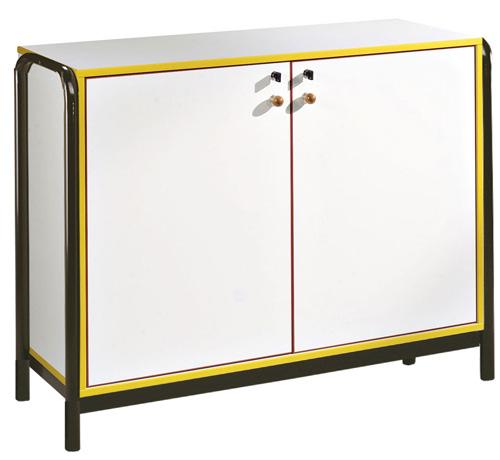 DPC - MATERNELLE Meuble, 2 portes battantes, piétement lateral