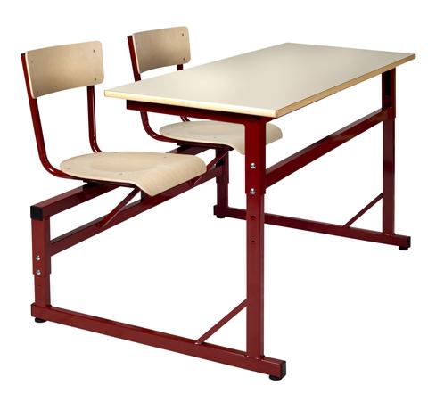 DPC - SCOLAIRE & SALLE DE COURS Table à sièges attenants réglable LODI