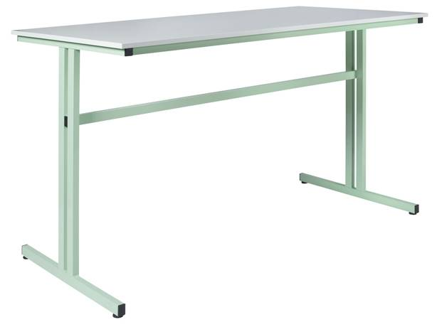DPC - SCOLAIRE & SALLE DE COURS Table de travail grande hauteur 850 mm - 1600 x 800 mm  chants ABS Photo 2