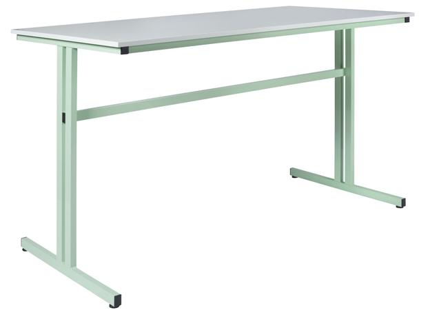 DPC - SCOLAIRE & SALLE DE COURS Table de travail grande hauteur 1100 mm - 1600 x 800 mm  chants ABS Photo 2