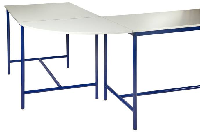 Plateau de jonction angle 90° pour table de technologie -  chants ABS
