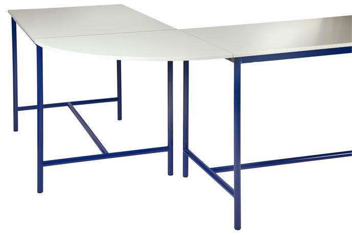 Plateau de jonction angle 90° pour table de technologie -  chants ABS