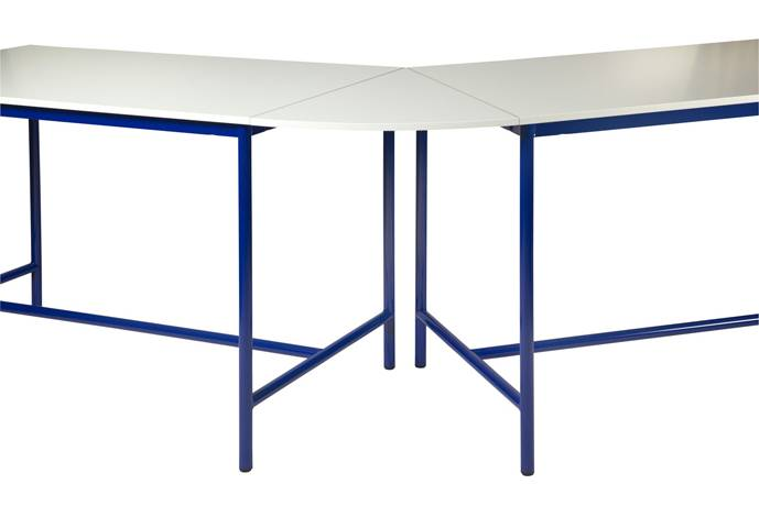 Plateau de jonction angle 45° pour table de technologie - chants ABS