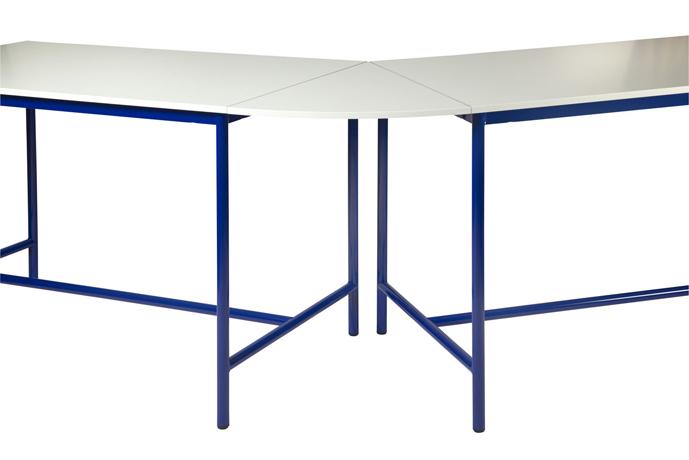 Plateau de jonction angle 45° pour table de technologie - chants ABS