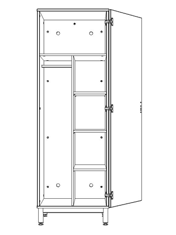 Dpc hebergement armoire 1 porte 1 2 penderie 1 2 ling re pylos for Armoire 1 porte penderie