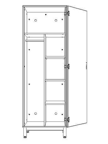 dpc hebergement armoire 1 porte 1 2 penderie 1 2 ling re pylos. Black Bedroom Furniture Sets. Home Design Ideas