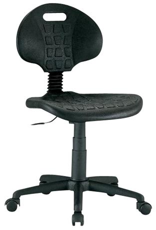 Siège giratoire, réglable de 40 à 53 cm, assise et dossier en polyuréthane