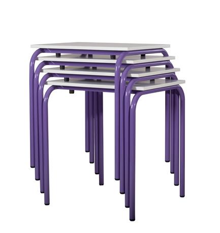 DPC - SCOLAIRE & SALLE DE COURS Table RAJA empilable taille 6 (700 x 500 mm) photo 2