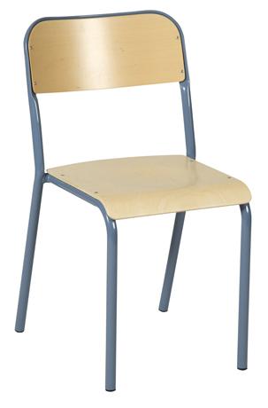 Chaise GALAXY 4 pieds - assise et dossiers en hêtre multiplis