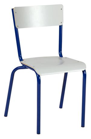 Chaise RAJA 4 pieds - assise et dossier stratifiés