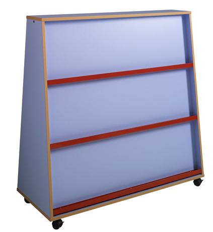 Présentoir à livres 2 faces, LHP : 120 x 122,5 x 51 cm - Profil  hêtre naturel