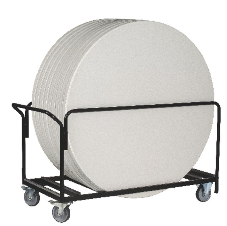 Chariot de transport de tables ZANG rondes
