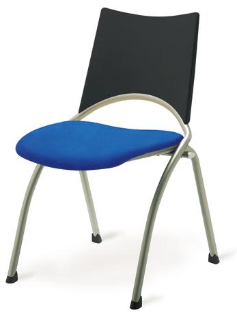 Chaise WAP assise en tissu et dossier en polypropylène - sans sytème d'accroche