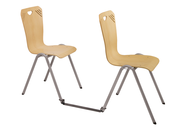 Barre inter-rangée pour chaise 4 pieds