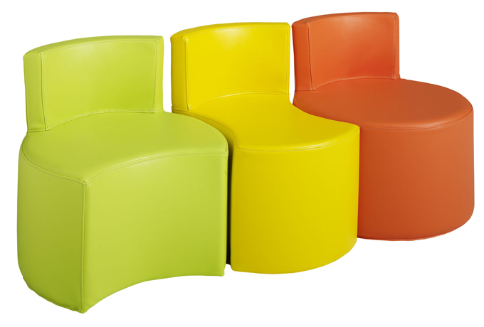 dpc maternelle lot de 3 poufs puzzle avec dossier. Black Bedroom Furniture Sets. Home Design Ideas