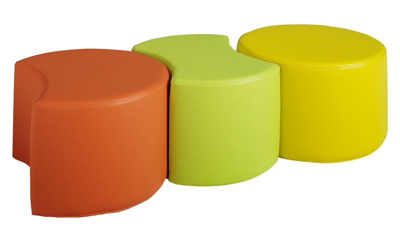 dpc maternelle lot de 3 poufs puzzle sans dossier. Black Bedroom Furniture Sets. Home Design Ideas