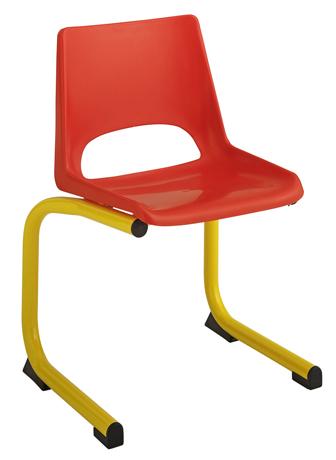 Chaise maternelle coque plastique - appui sur table