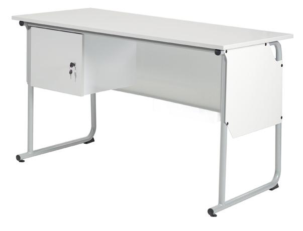 DPC - SCOLAIRE & SALLE DE COURS Chaire de professeur éco-conçue EPSY 1300 x 650 mm - équipée d'un caisson une porte