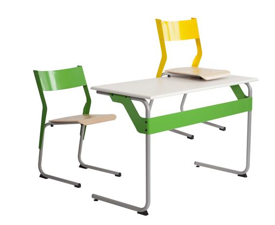 DPC - SCOLAIRE & SALLE DE COURS Chaise éco-conçue EPSY  appui sur table - piétement tube coloris gris 137 Photo 4