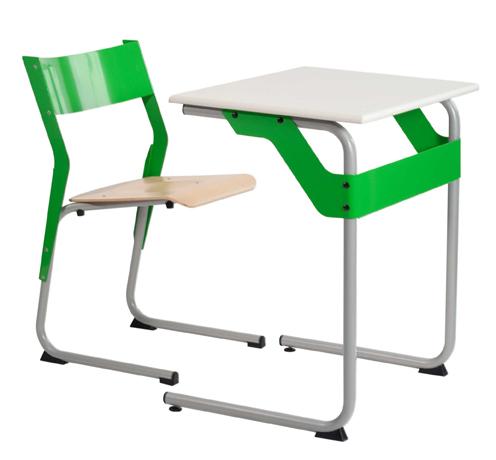 DPC - SCOLAIRE & SALLE DE COURS Chaise éco-conçue EPSY  appui sur table - piétement tube coloris gris 137 Photo 2