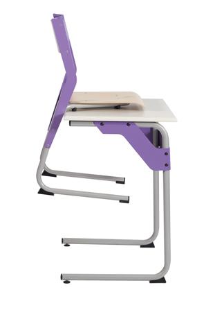 DPC - SCOLAIRE & SALLE DE COURS Chaise éco-conçue EPSY  appui sur table - piétement tube coloris gris 137 Photo 3