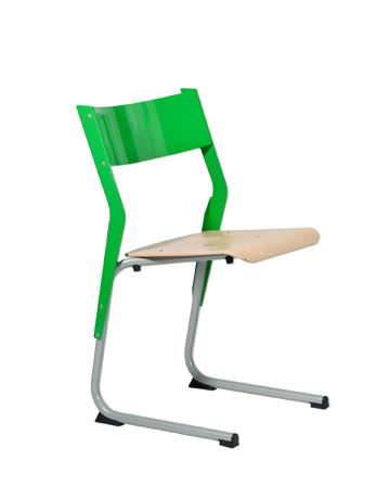 Chaise éco-conçue EPSY  appui sur table - piétement tube coloris gris 137