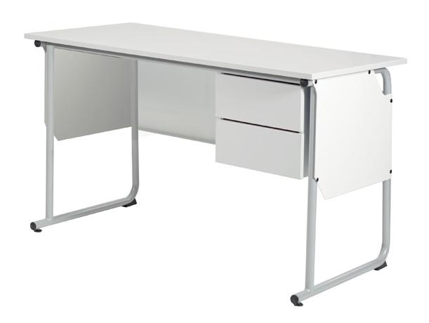 Chaire de professeur éco-conçue EPSY 1300 x 650 mm avec caisson 2 tiroirs